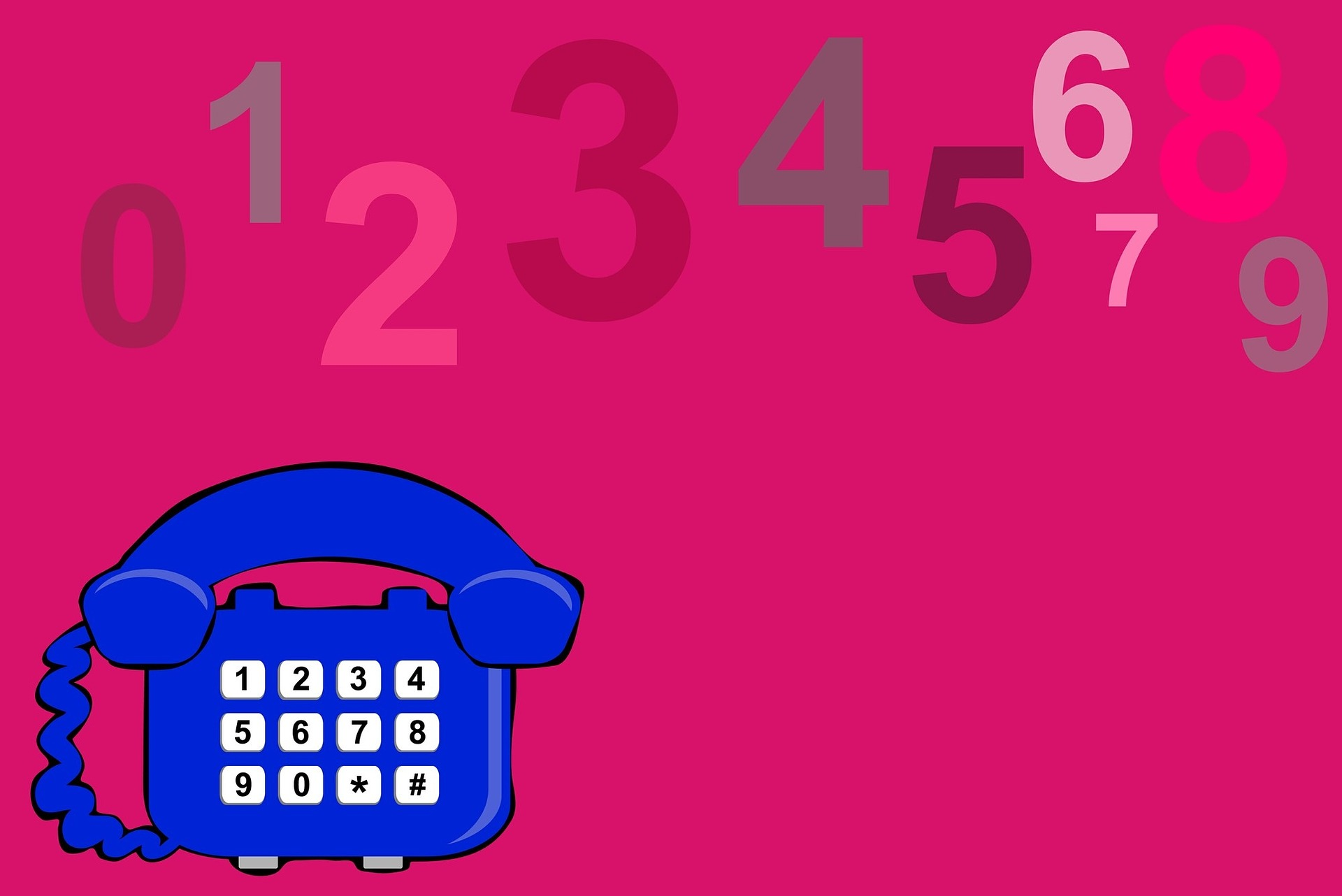 SMSコードの確認のための電話番号