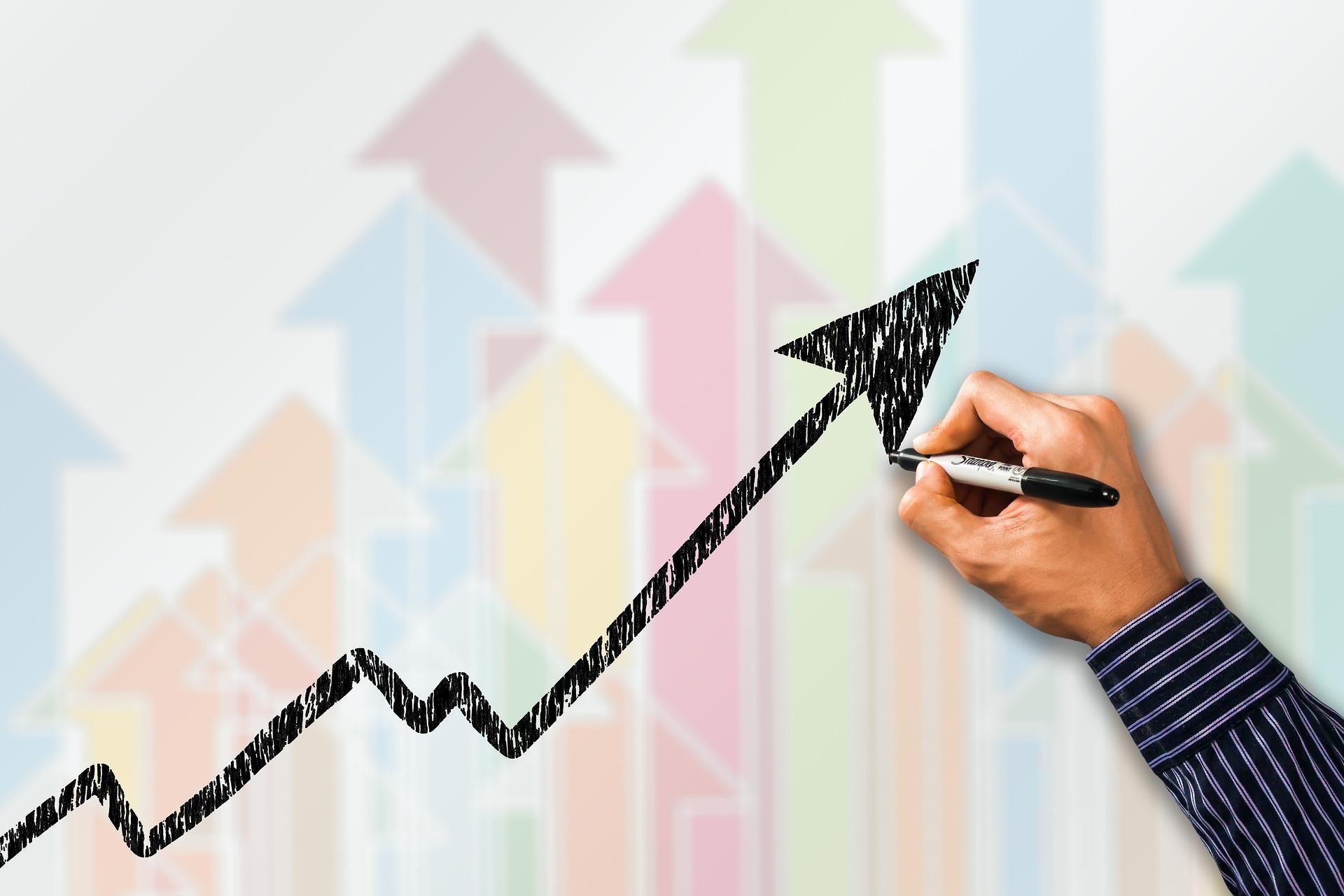 値段が高騰するグラフ