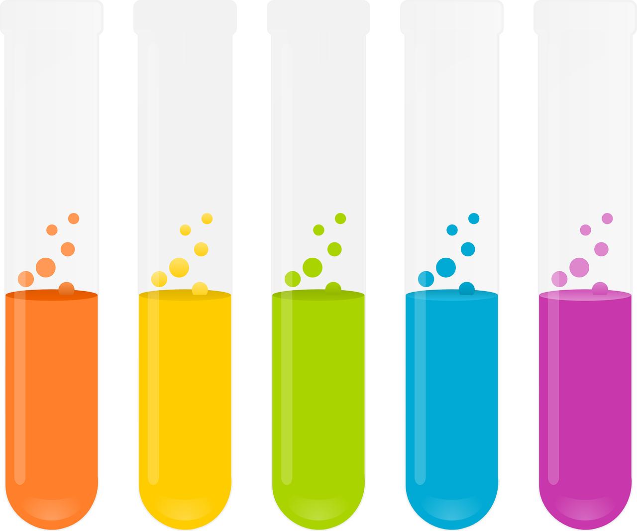 成分を調べる実験