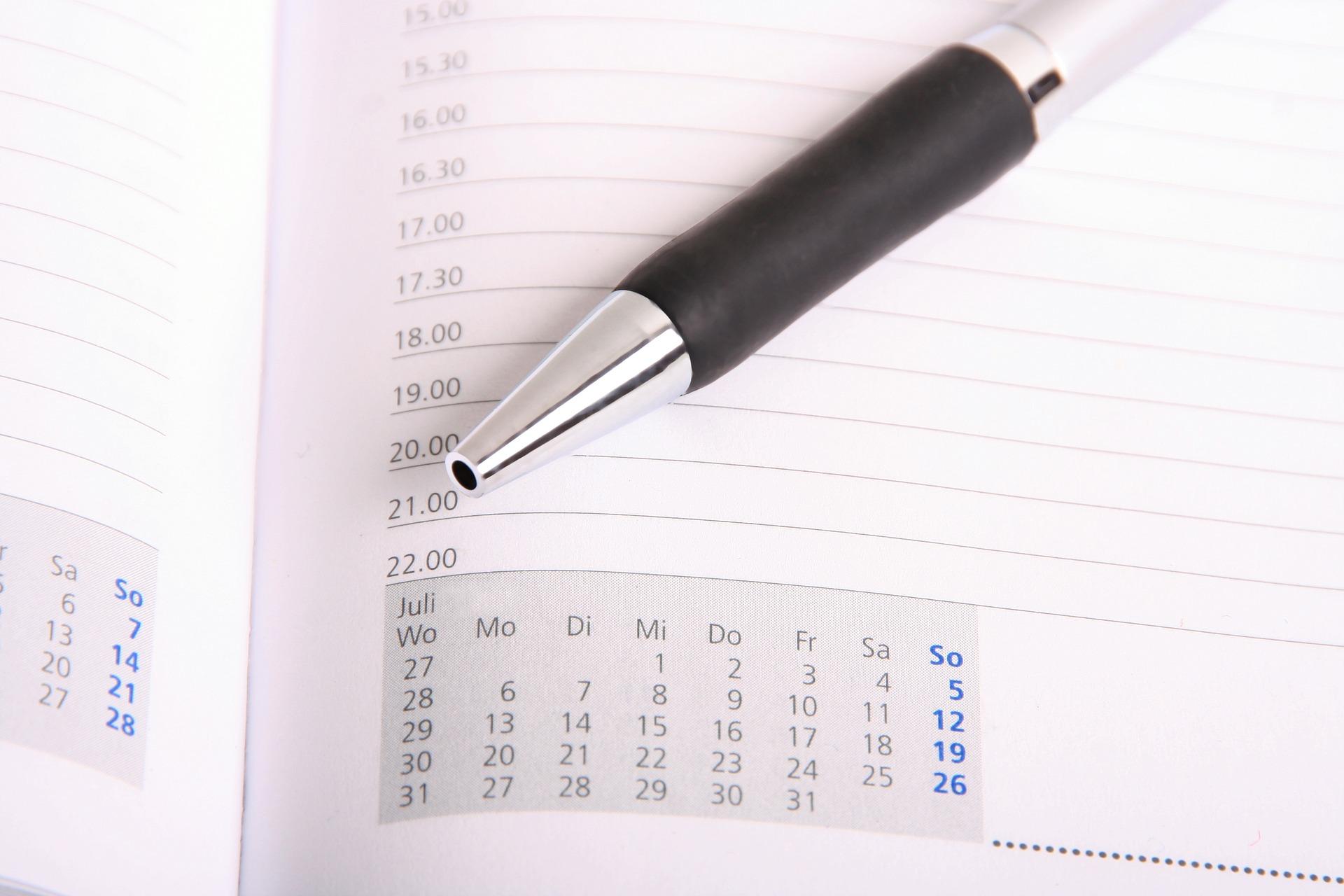 再販日をチェックするペン