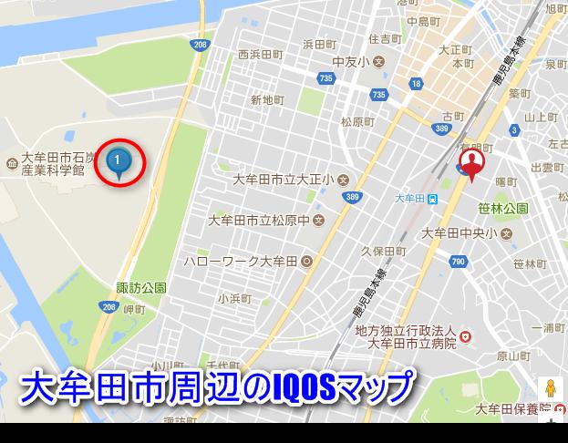 福岡市犬牟田のiQOSマップ