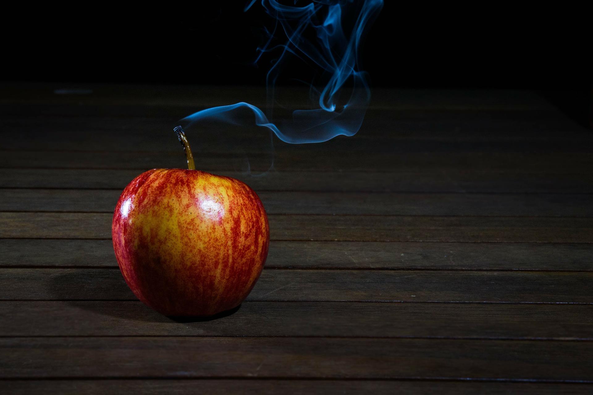ビタミン入りのタバコから煙