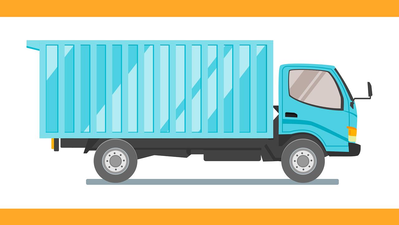 グローを入荷するr配送トラック