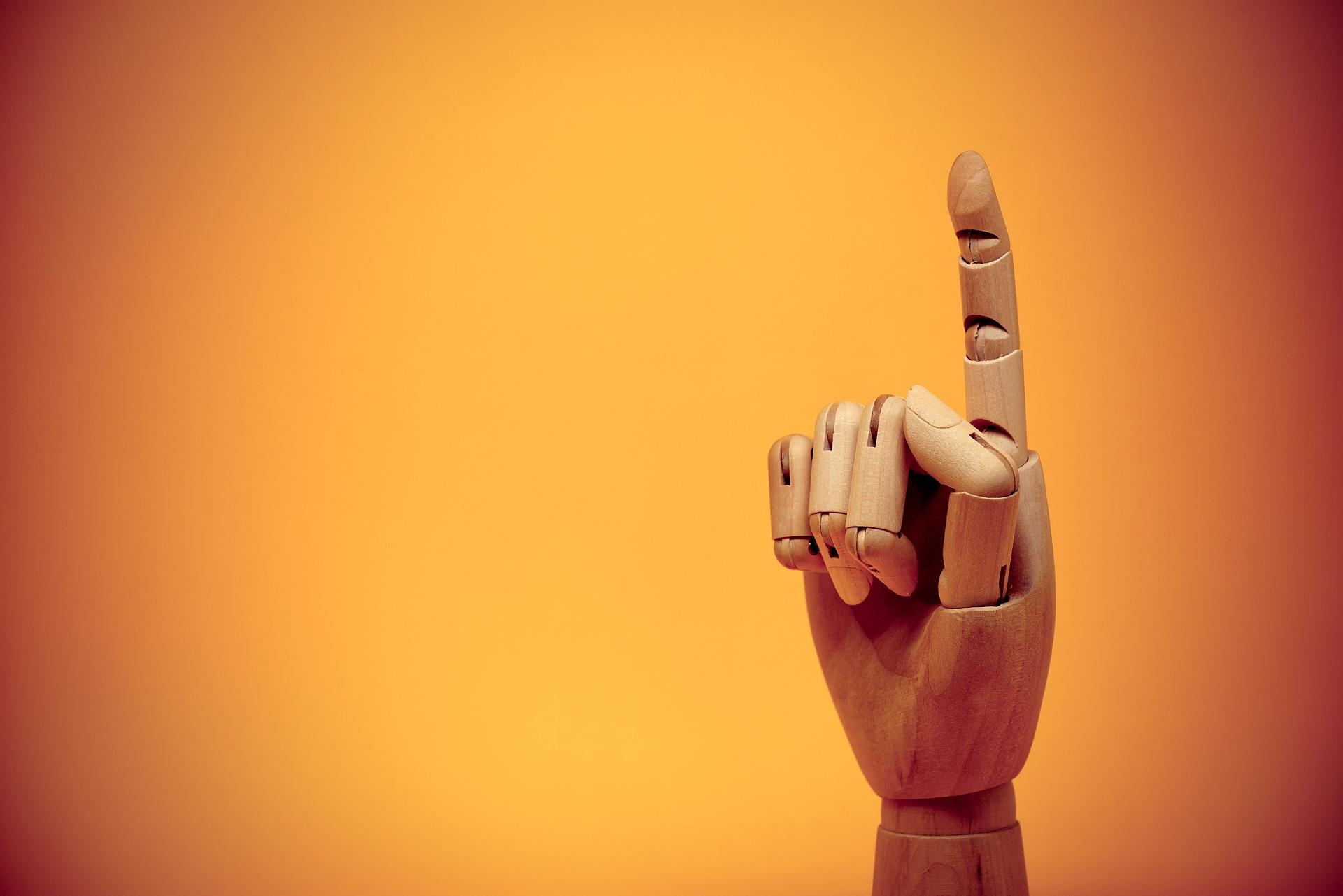 一人一個を表す人差し指