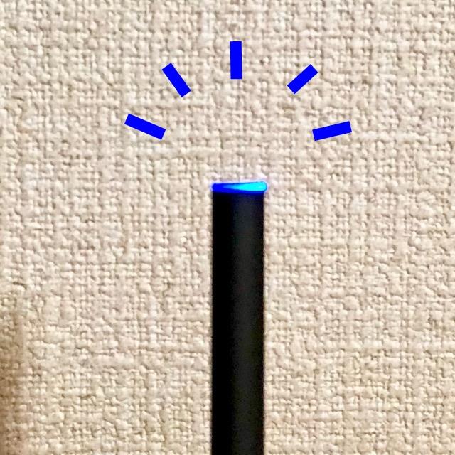 プルームテックの青色点滅