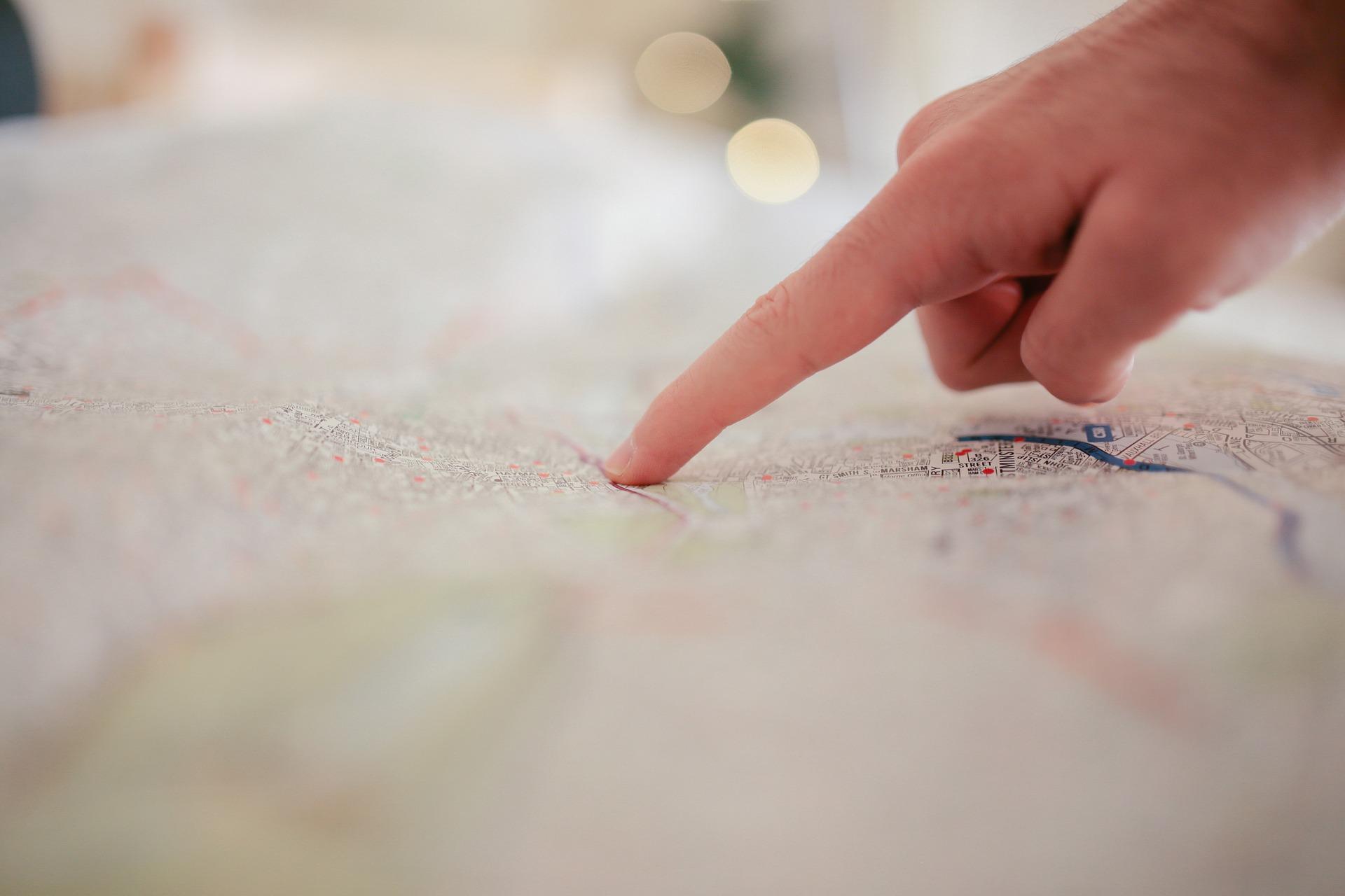 グローストアの地図