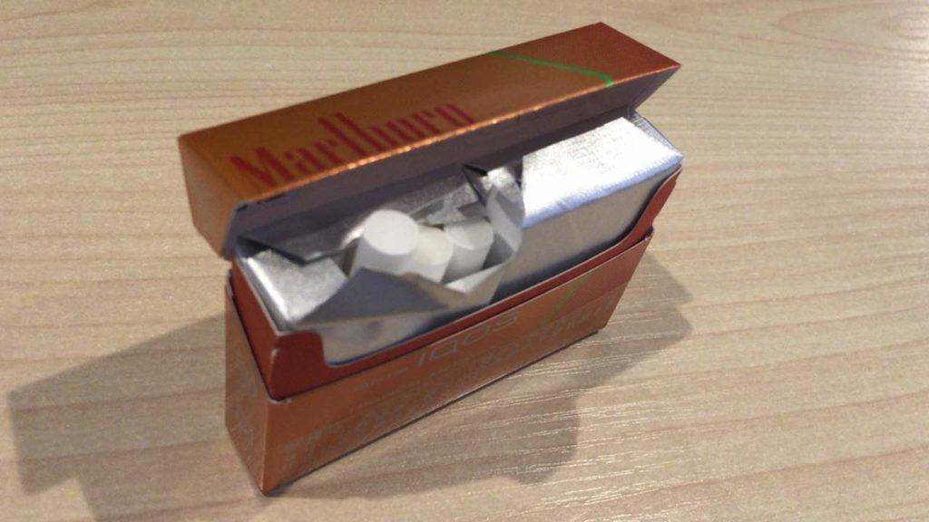 アイコスのトロピカルメンソール味の箱