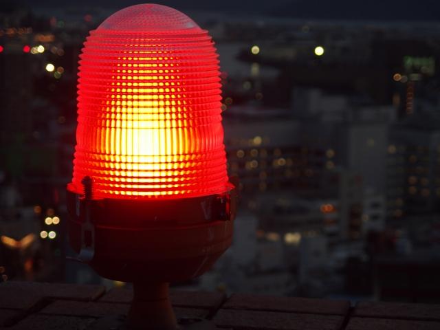 グローセンスの赤点滅