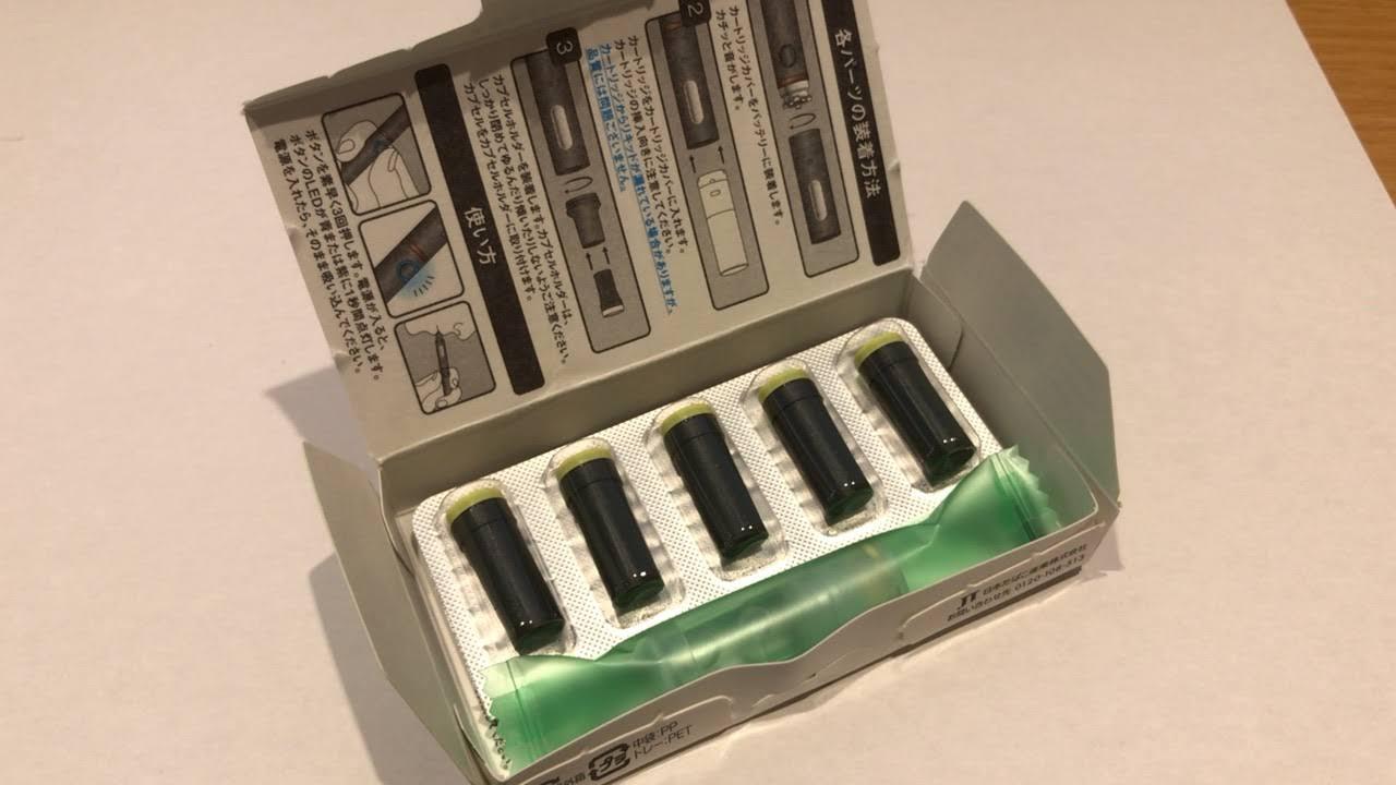 プルームテックプラスのマスカット味パッケージ箱